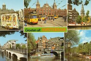 AMSTERDAM - Holland - Netherlands - Multiview Picture Postcard (500M)