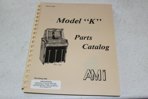 "AMI Model ""K"" Jukebox Parts Catalog - used"