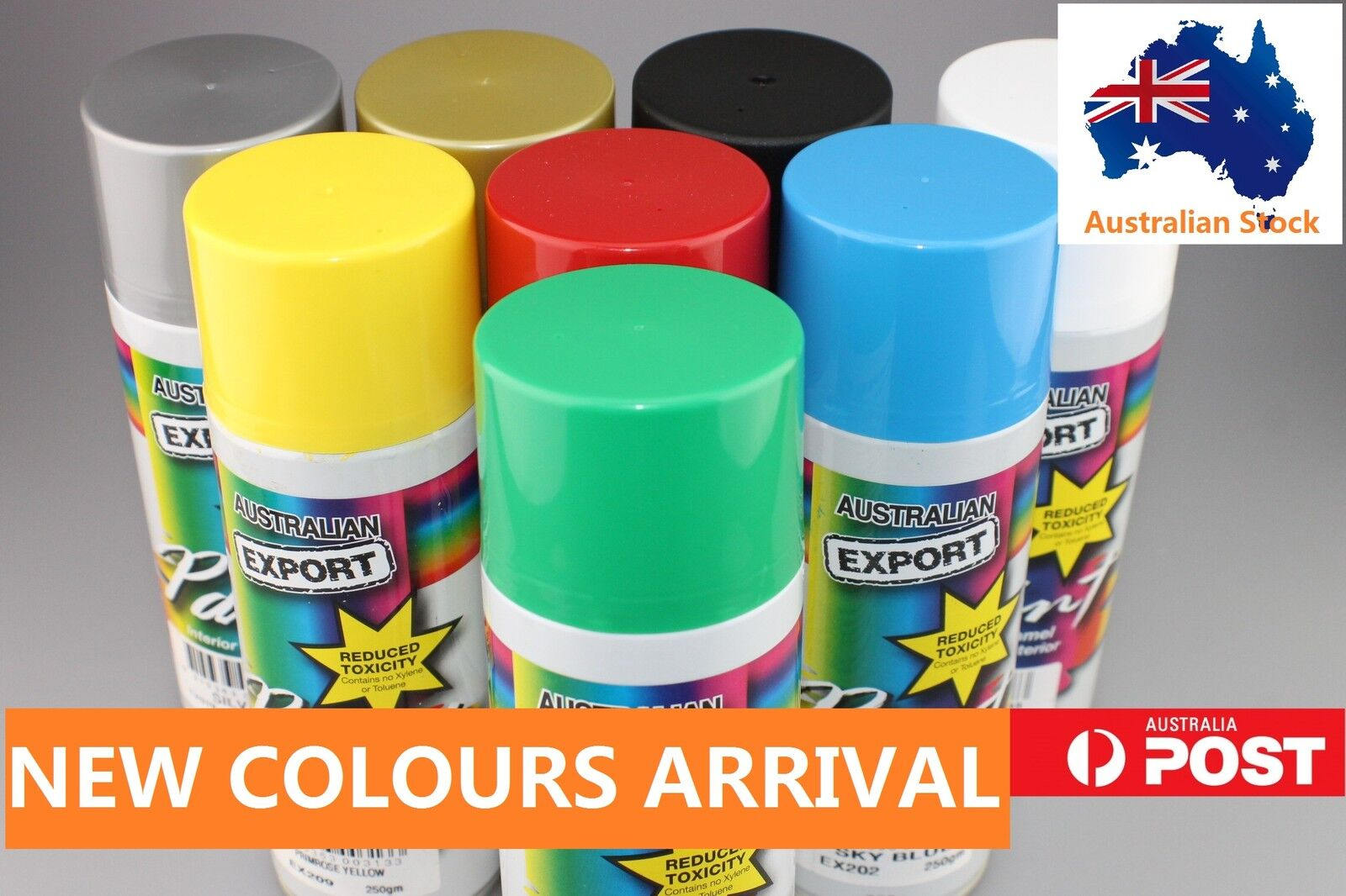 Australian Export Spray Paint Cans 250gm Fast Shipping 34