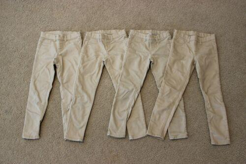 Lot of 4 GIRLS Wonder Nation tan skinny pants size S 6-6X stretchy elastic waist