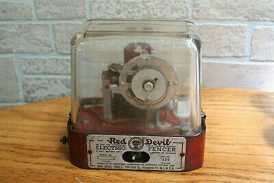 Vintage 1945 Red Devil Electric Fencer Box
