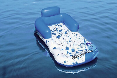 Large Inflatable Blue Swimming Pool Lounger Chair Beach Lilo Float Toy - 43155