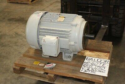 New Baldor 60 Hp Motor 1775 Rpm Fame 364tsc Tefc 208-460v Super E