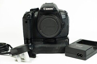 Canon EOS 650D 18.0 MP Digital SLR Camera body with battery grip with HD video