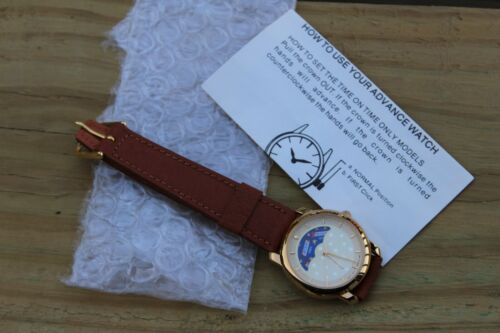 NEW Vintage Snickers Moonphase Watch w/Leather Band