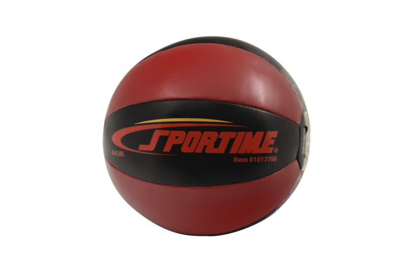 Sportime Strength Medicine Ball, 4-1/2 Pounds, Red and Black