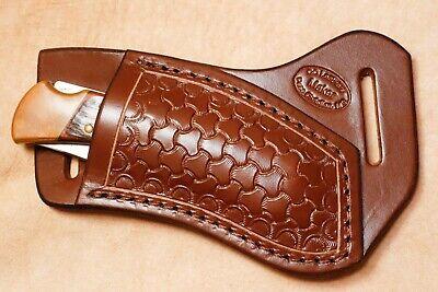 Custom Leather Crossdraw Sheath w/tri-weave for Buck 110/112 Knife (right hand)