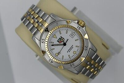 Tag Heuer WD1221.BB0611 Gold 1500 Professional 2-Tone SS Watch Mens 955.713