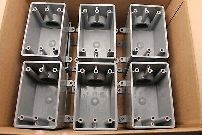 Lot Of 12 - Carlon E9801fn 1 In. Fde 1-gang Wp Box