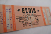 Elvis Presley Unused Concert Ticket