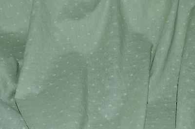 - Swiss Dot Dusty Sage Green 100% Cotton Woven Dots 56