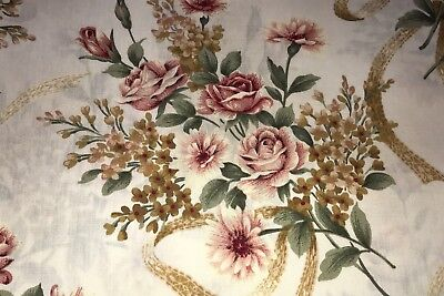 1 Yd Rose Aster Bouquets Cotton Quilt Fabric BTY by P&B Textiles Sweet Memories