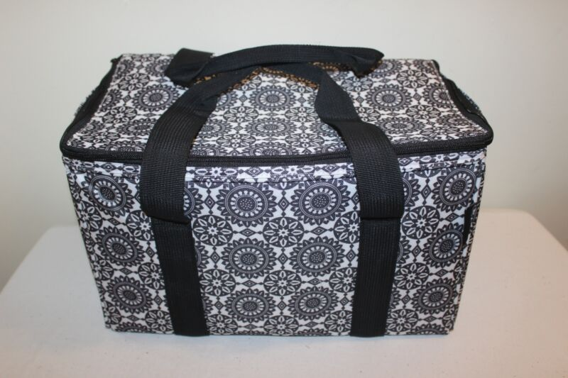 Longaberger Stay Cool Small Insulated Tote Bag - Black Medallion