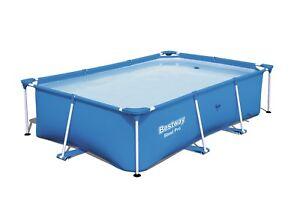 Bestway Large Rectanglar Frame Family Swimming Paddling Pool Outside Water Fun