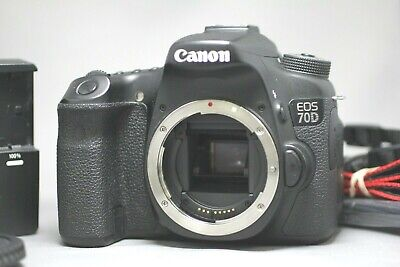 Canon EOS 70D 20.2MP Digital SLR Camera Body Good+  45,207 Clicks #062022010