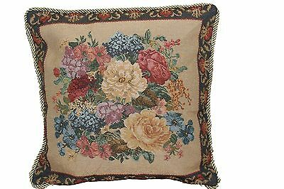 Set of 2 Tapestry Floral Country Rustic Morning Cushion Pillow Throw Cover Case