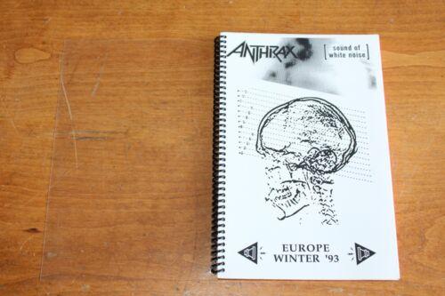 Anthrax / Tour Itinerary /  European Tour Winter 1993