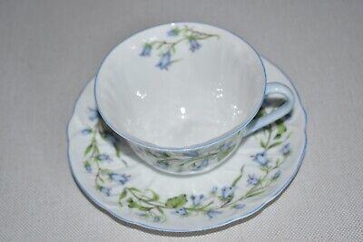 Shelley Bone China England Oleander Tea Cup & Saucer - Harebell #13590 Bone China England Tea Cup