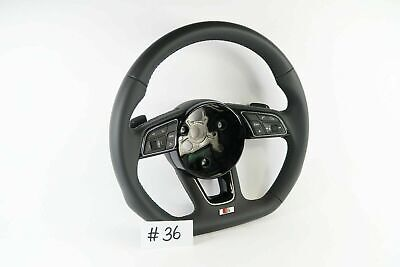 AUDI S LINE A4 A5 S4 S5 Q5 LEATHER FLAT BOTTOM STEERING WHEEL & SHIFT PADDLE #36