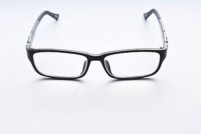 FULL RIM LIGHTWEIGHT PLASTIC EYEGLASS FRAMES BLACK GREEN RECTANGULAR (Lightweight Plastic Eyeglass Frames)