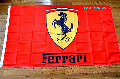 Ferrari Flag Banner 3x5 ft Italy Car Manufacturer Red