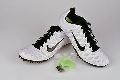 cheap for discount 91099 fff4a Nike Zoom Maxcat 4 Track Running Spikes White Black SZ 8 NWOB ( 549150-107 )