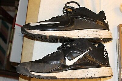 Nike Men's Lunarlon Black Running Cross Training Baseball Turf Shoes sz. 9.5 MVP