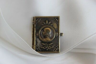 Delightful Reliquary Jeanne Arc in shape Book Signed Fv Collection Religion