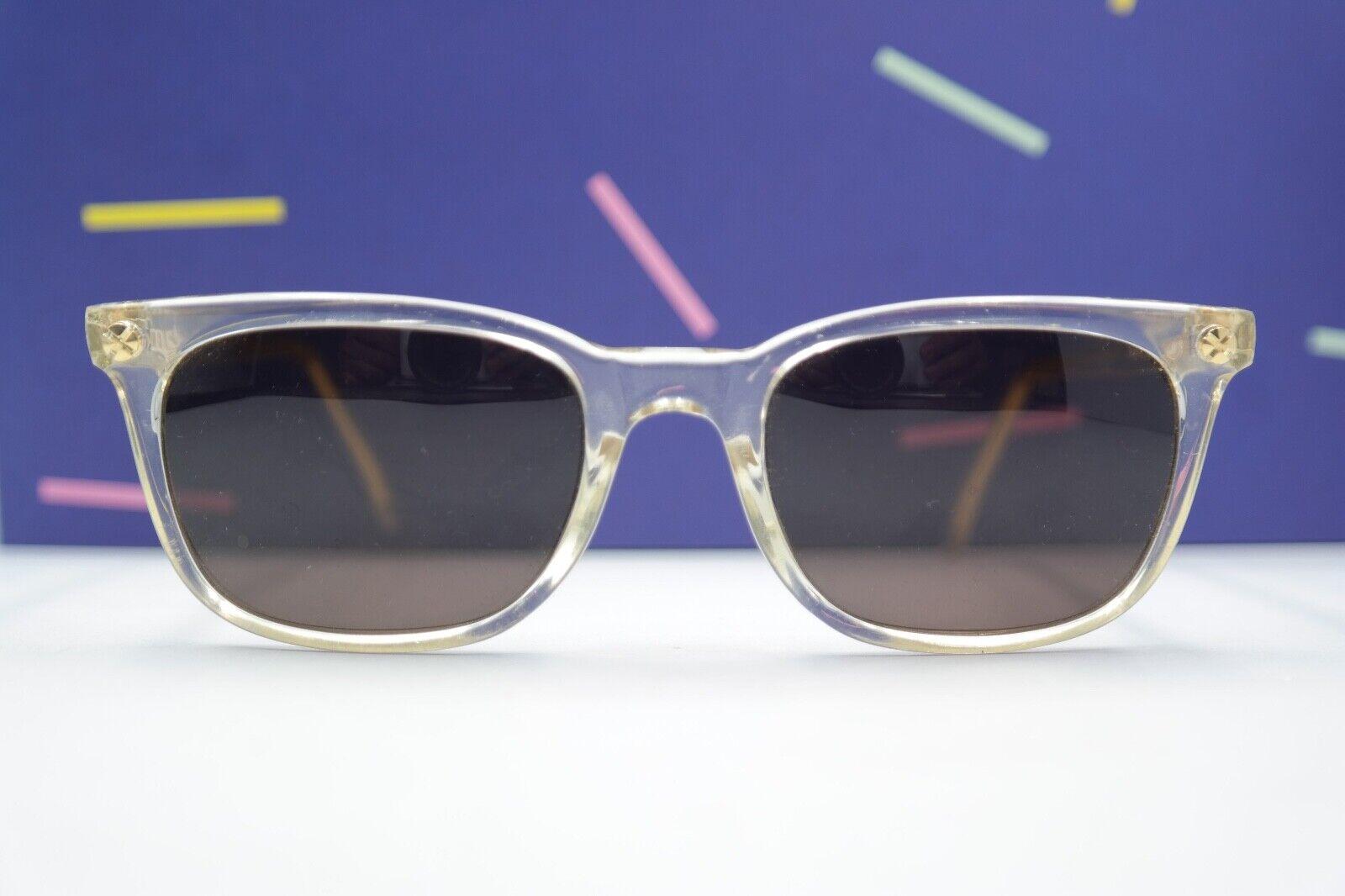 Sonnenbrille Vintage Vogue Florence Mod. RICH transparent gold NOS