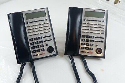 Two Nec 1100063 Ip4ww-24txh-b-tel Bk Sl1100 Phone Black - Used