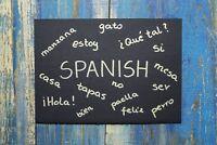 cours d'espagnol/des séances de tutorat . nouveau départ