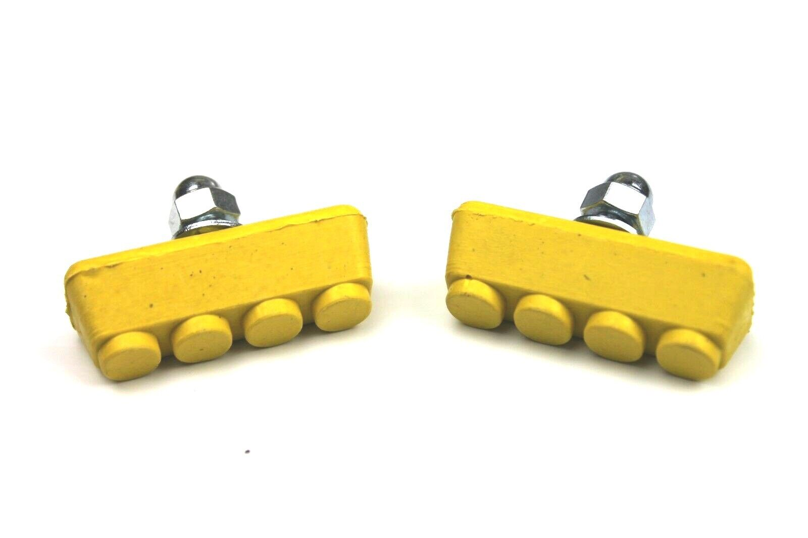 Old school BMX freestyle or fixie bicycle soft compound brake pads YELLOW