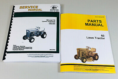 Service Manual Set For John Deere 60 Lawn Tractor Garden Parts Catalog Shop Book