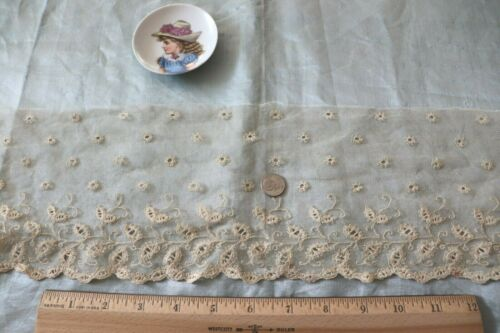 "Victorian French Antique Cream Lace~L-43"" X W-5""~Dolls"
