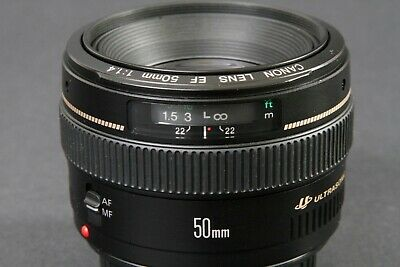 Canon EF 50mm f/1.4 USM Lens, Clean, Sharp, Nice, Free Expedited Shipping US