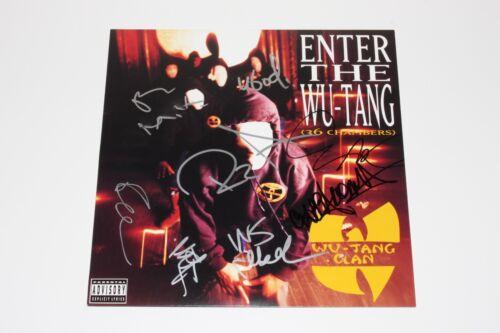 WU-TANG CLAN GROUP SIGNED ENTER THE WU-TANG (36 CHAMBERS) VINYL ALBUM LP w/COA