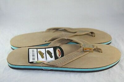RAINBOW SANDALS MENS 301 ALTS SINGLE LAYER LEATHER THONG SANDAL SIERRA BROWN Mens Leather Thong Sandals