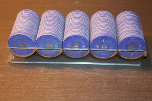 Resorts Tunica Top Hat & Cane Paulson Tournament Chips Closed Lot of 100 $500