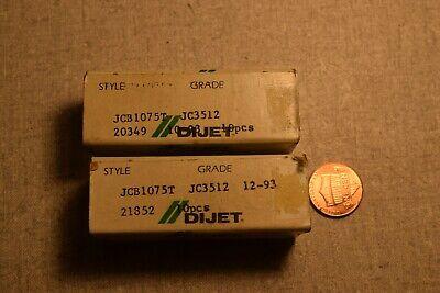 Dijet Jcb1075lt Jc3512 Carbide Inserts Lot Of 16