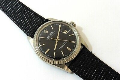 1959 GENTS STEEL BLACK DIAL1601 ROLEX OYSTER DATEJUST EXCELLENT CONDITION