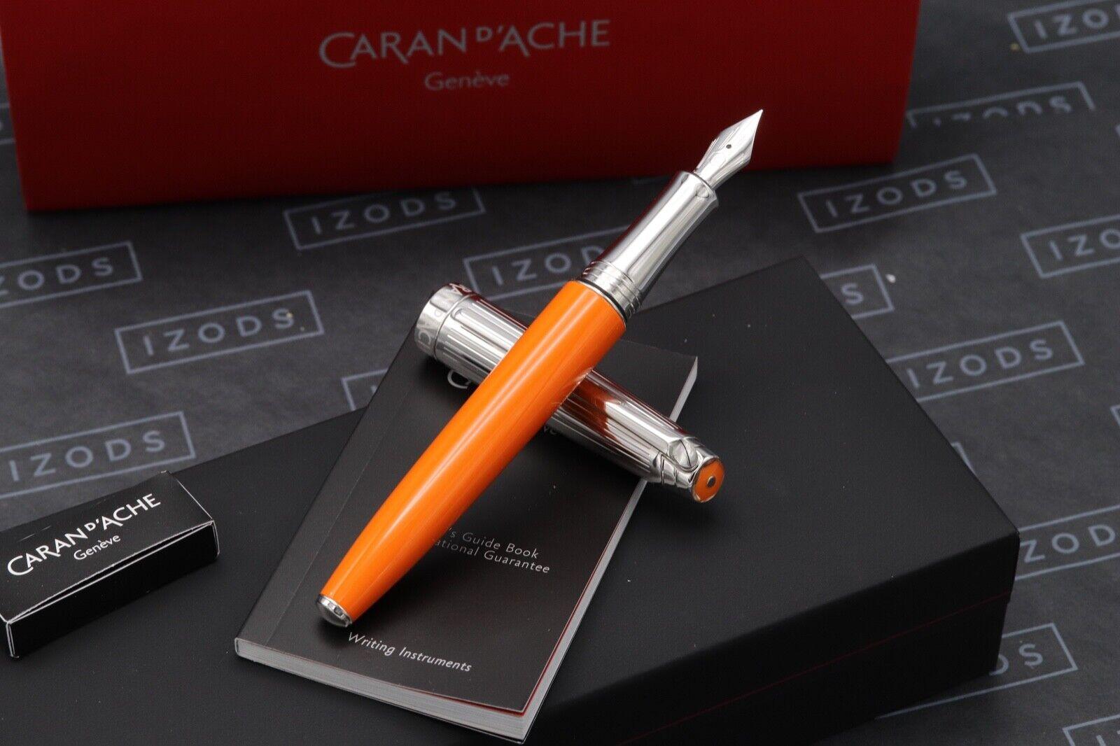 Caran d'Ache Leman Bicolor Saffron Fountain Pen 1