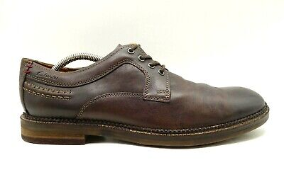 Clarks 1825 Brown Leather Casual Lace Up Oxfords Shoes Men's 10.5 M