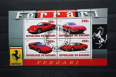 Autos 04 cars Automobile Scuderia Ferrari Burundi 2010 Verkehr sauber gestempelt