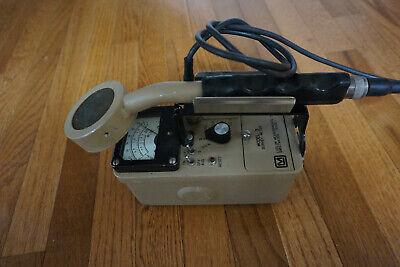 Ludlum 3 Survey Meter Geiger Counter Radiometer 44-9 Pancake Probe 2005 Calibra