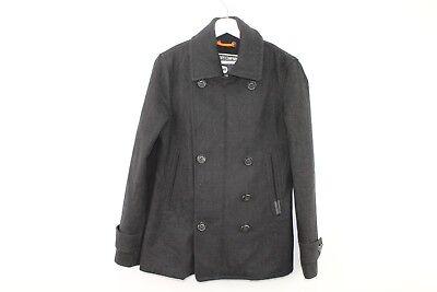 Mens Superdry Black Coat size S stock No.S497