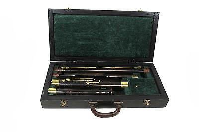 antikes böhmisches Fagott 10 Klappen um 1830 orig. Besitzersignatur Instrument