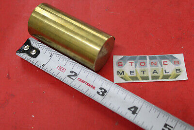 1-18 C360 Brass Solid Round Rod 2-38 Long New Lathe Bar Stock 1.125 Od H02