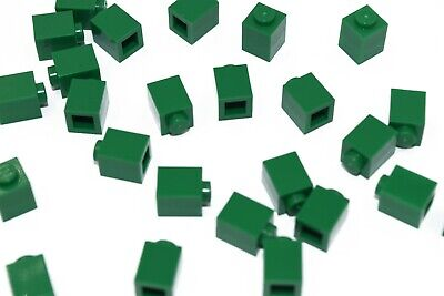25 New LEGO 1x1 Green Bricks bulk 3005 dark green city plant lot bulk building