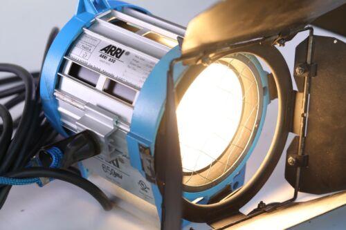 Arri 650 Plus Tungsten Fresnel with Barndoors