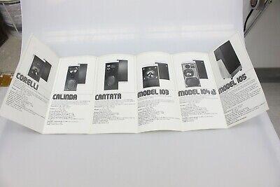 Vintage KEF Model 103 105 Cantata Speaker Sales Brochure Pamphlet Advertising